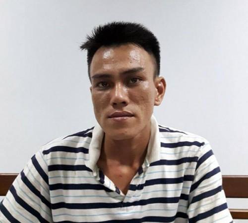 Bị can Huỳnh Đức Ngọc tại cơ quan điều tra