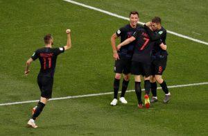 Croatia vui mừng thắng 3-0 argentina