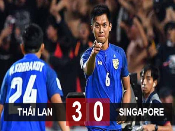 Thắng lớn Singapore, Thái Lan vào bán kết AFF Cup với ngôi nhất bảng B