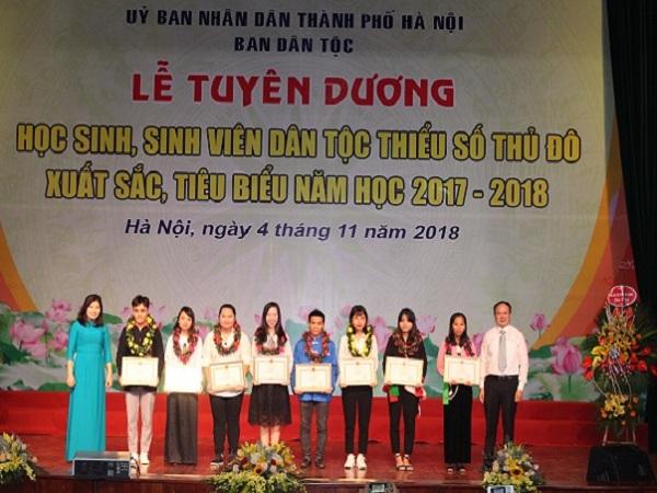 Hà Nội tuyên dương 125 học sinh, sinh viên DTTS tiêu biểu năm 2018