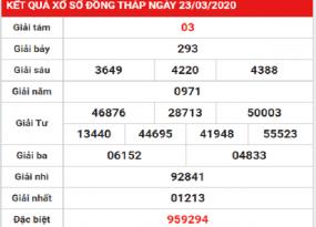 Bảng KQXSDT- chốt dự đoán kqxs đồng tháp ngày 30/03