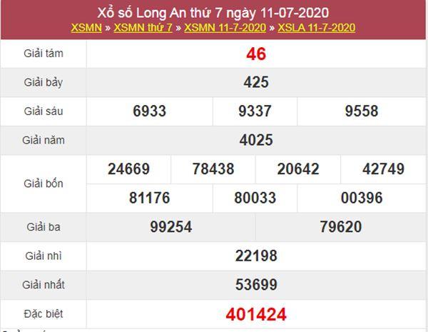 Soi cầu XSLA 18/7/2020 chốt lô số đẹp Long An thứ 7