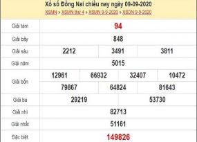 Dự đoán xổ số Đồng Nai 16-09-2020