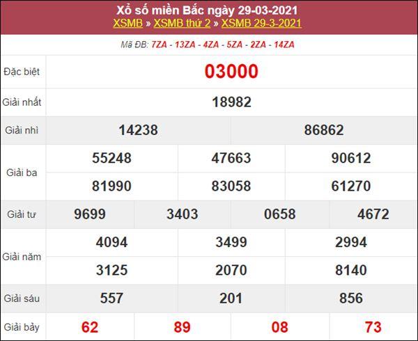 Soi cầu XSMB 30/3/2021 chốt lô VIP miền Bắc thứ 3