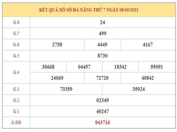 Soi cầu XSDNG ngày 12/5/2021 dựa trên kết quả kì trước
