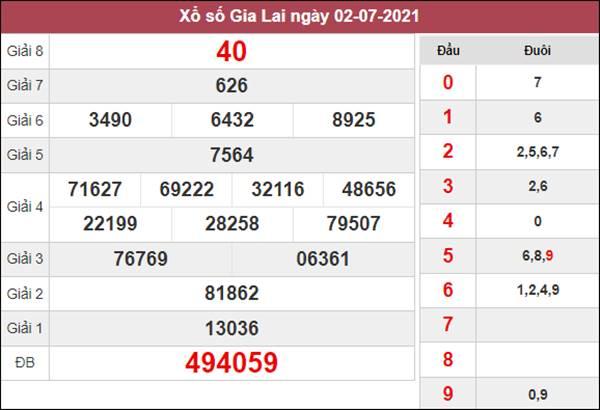 Soi cầu XSGL 9/7/2021 chốt bạch thủ lô Gia Lai thứ 6