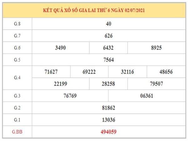 Dự đoán XSGL ngày 9/7/2021 dựa trên kết quả kì trước